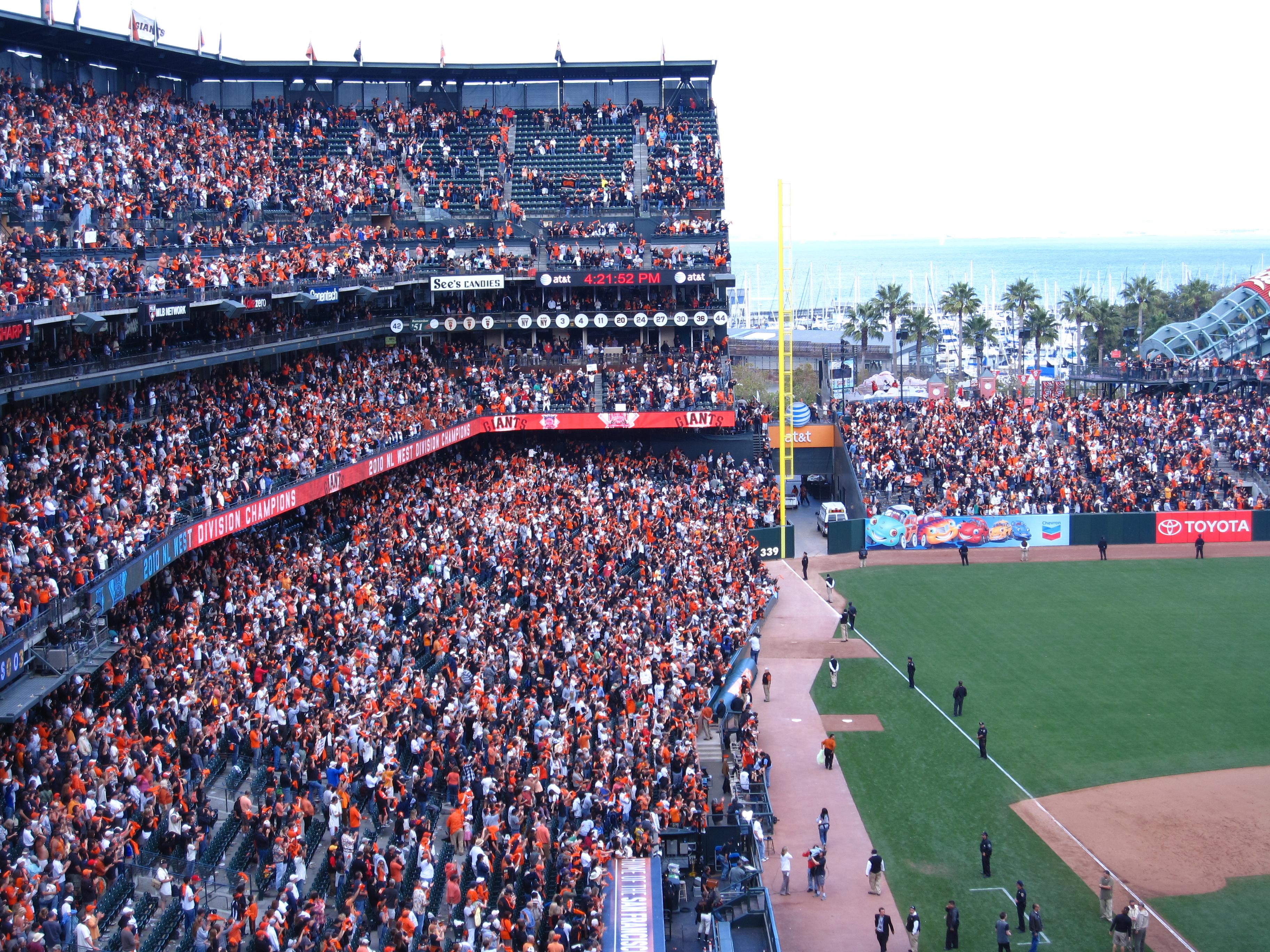 Baseball Fans Cheering Giants fans cheer their team!